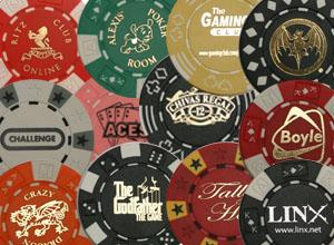 Personalised Casino Chips Photograph